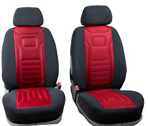 Vordersitzbezüge Stripes Rot Autositzbezüge  Universal Schonbezüge Fiat Stilo