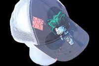 DC Comics The Joker Snapback Ball Cap VTG Mesh Batman's Nemesis Villain