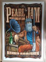 PEARL JAM KINGS OF LEON MELBOURNE AUSTRALIA 06 CONCERT POSTER ART KEN TAYLOR