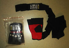 NEW! Combat Sports MMA Top Contender Gel Wrap Handwraps - Black & Red - Sz L/XL