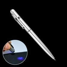 Sicherheit Unsichtbar Tintenkuli Spion Stift mit Ultraviolett UV LED Münzprüfer