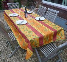 Tischdecke Provence 150x300 cm Oliven terrakotta rot aus Frankreich, bügelfrei