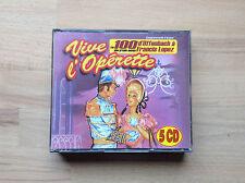 VIVE L'OPERETTE  COFFRET 5 CD / TITRES   RARE/edition MARIANNE MELODIE