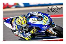 VALENTINO ROSSI firmato Autograph Foto Stampa MotoGP VR46 POSTER FOTOGRAFIA
