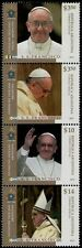 2013 Inizio del nuovo Pontificato - Argentina - serie in striscia di 4v s-t