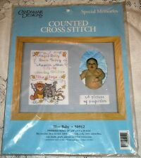 Candamar Special Memories Blue Baby Counted Cross Stitch Kit 50912 Boy 10X8 NEW!