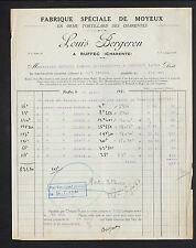 "RUFFEC (16) USINE de MOYEUX en bois ORME TORTILLARD ""Louis BERGERON"" en 1936"