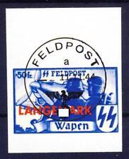 wwII Flämische Legion Langemark MiNr. XX ungezähnt und gestempelt Fälschung