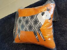 NEW Ulster Weavers Curious Cows Cushion cotton sealed christmas gift orange navy