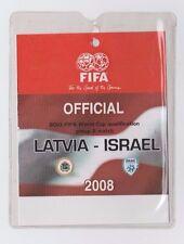 Orig.Ticket / Pass   WM Qualifikation  15.10.2008  LETTLAND - ISRAEL  !!  SELTEN