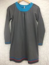 Hanna Andersson Gray Red Blue Black Accent Dress Long Sleeve Sz 160 US 14