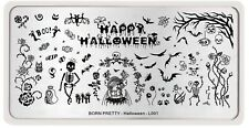 Happy Halloween Bat Image Nail Art Stamping Template Halloween Day L001