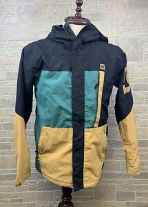 Mens DC Snowboarding Jacket Winter 10K Waterproof Big Logo Good Design Size S
