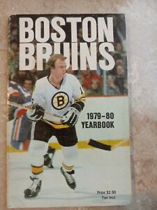 1979-80 BOSTON BRUINS Yearbook RAY BOURQUE Rookie JEAN RATELLE BRAD PARK