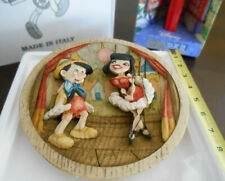 Disney Pinocchio Collection 3D Decorative Plate by Andrea Kostner LE165/1940 NEW