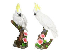 38cm White Cockatoo On A Branch, Poly-Resin Model