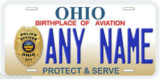 Ohio Police Any Name Number Novelty Car License Plate