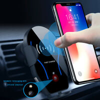 Car Charger Smart Infrared Wireless QI Automatic Induction Mount Phone Holder