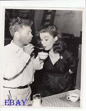 Mickey Rooney feeds Elaine Stewart VINTAGE Photo candidf