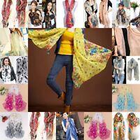 New Women Long Neck Large Scarf Wrap Shawl Pashmina Soft Scarves Chiffon Cotton