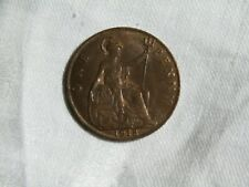 1918 British One Penny Coin, Luster, Great Britain
