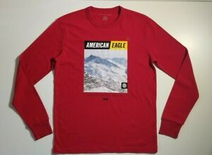 American Eagle Men's Long Sleeve Graphic T-Shirt NWT