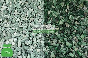 25 kg Atlantis Edelsplitt Sackware Ziersplitt Zierkies grün