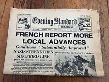 More details for 1939 original - evening standard ( french report more local advances )