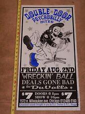 """1996 Wreckin' Ball Concert Poster, Artist Signed Rob """"Trucker"""" Schwager"""