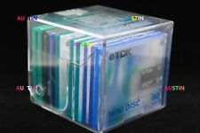 SONY AND TDK MINIDISCS 10 NEW BLANK DISC'S WITH STORAGE CUBE.....