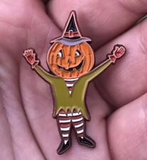 Stile Vintage Smalto Halloween Uomo Zucca Pin