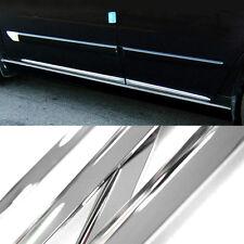 3M Tape Chrome Side Skirt Door Line Sill Garnish Molding Trim 4Pcs for ACURA Car