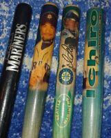 Vintage 2001 ICHIRO SUZUKI Rookie Mini Bats & 1996 E.W. Hanna MARINERS (4× Bats)