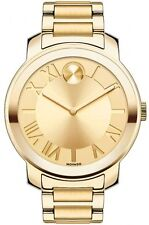 New Movado Bold Gold Ion-Plated Stainless Steel 39mm Women's Watch 3600197