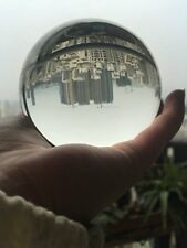 SHIP FROM UK 100mm Big Clear Quartz Crystal Ball Sphere Photo Props Free Stand