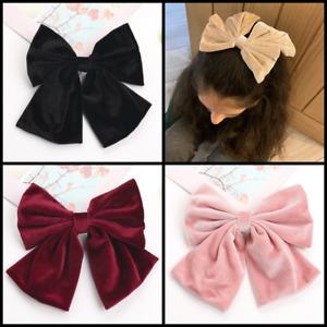 Velvet Barrette Bow Hair Clip Grip