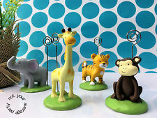 Born to be Wild Jungle Animal Place Card/Photo Holders Tableware (8 x Assorted)