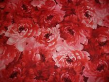 Floral Prose Red Peonies Tonal Red Maywood Studio Quilting Cotton Fabric Yard