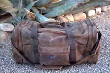 Waxed Canvas Duffle Bag (Brown)