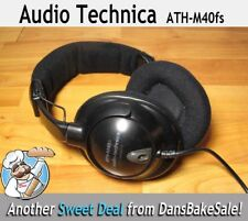 Audio Technica ATH-M40fs Precision Studiophones Headphones - Tested - Work Great