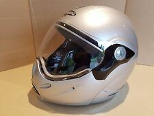 Caberg Rhyno MINI Junior Kids Flip Front Motorcycle Motorbike Helmet  Silver E64