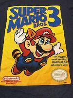 Super Mario 3 Small T Shirt Game Cover Nintendo NES