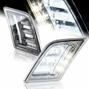 For 2008-2011 Mercedes Benz W204 C-Class LED Side Marker Clear Bumper Lights
