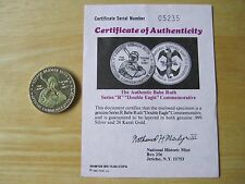 Babe Ruth Double Eagle Gold/Silver Medal, National Historic Mint with COA