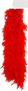 RED FANCY DRESS FEATHER BOA  BURLESQUE HEN NIGHT DANCE SOFT