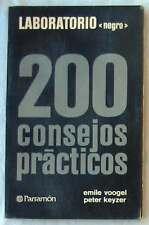 LABORATORIO NEGRO - 200 CONSEJOS PRÁCTICOS - PARRAMÓN 1980 - VER INDICE