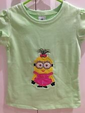 Girls Shirt Size 3 Green Minion Birthday Gift