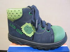 Jela Ll Boots Blue/Green Leather Footbed New
