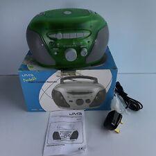 JMB 8905 Portable Radio Cassette Recorder FM/AM Retro Green Boxed w/Manual