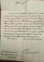1814 LETTERA AUTOGRAFA CARDINALE CESENATE BRASCHI ONESTI NIPOTE DI PAPA PIO VI